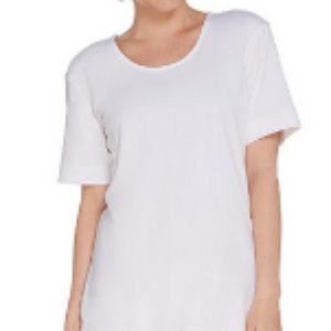 Denim & Co. Elbow-Sleeve Crisscross Back Oversized